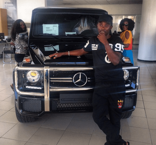 Actress Ini Edo and her new gwagon