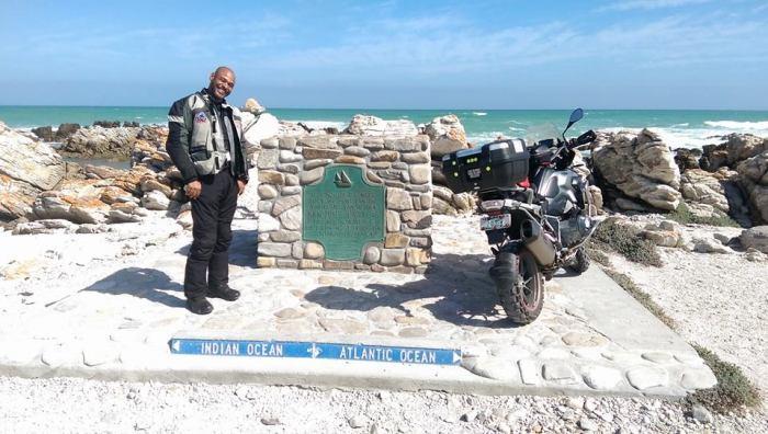 Kanu at Cape Alguhas, South Afrcia