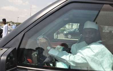 Tambuwal Storms NASS Without Security Details On Tuesday, November 4, 2014 (Photo Credit: Vanguard)
