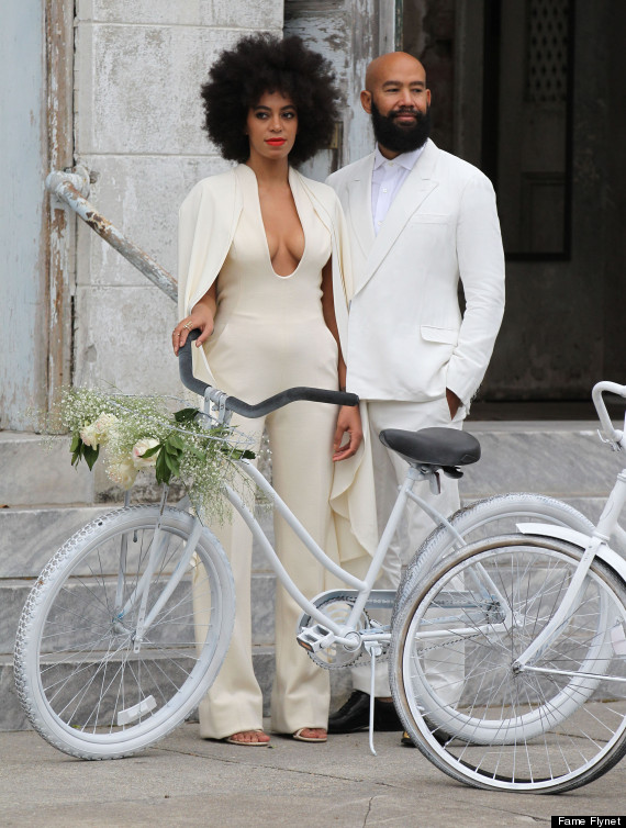 Singer Solange Knowles weds Alan Ferguson in front of friends and family in New Orleans, Louisiana on November 16, 2014. The pair enjoyed a bike ride instead of a limo ride after the wedding. Singer Solange Knowles weds Alan Ferguson in front of friends and family in New Orleans, Louisiana on November 16, 2014. The pair enjoyed a bike ride instead of a limo ride after the wedding. (Photo Credit: FameFlynet)