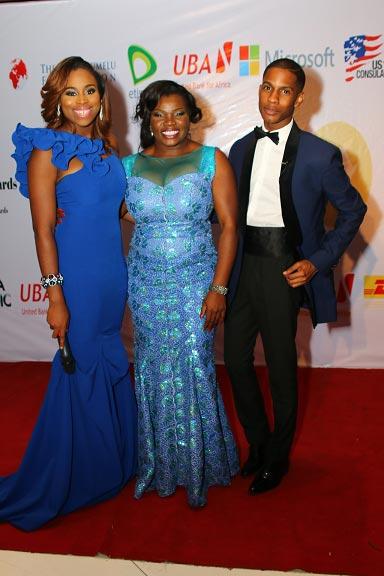 Mfon-Ekpo-with-red-carpet-hosts,-Zina-Anumudu-&-Denola-Grey