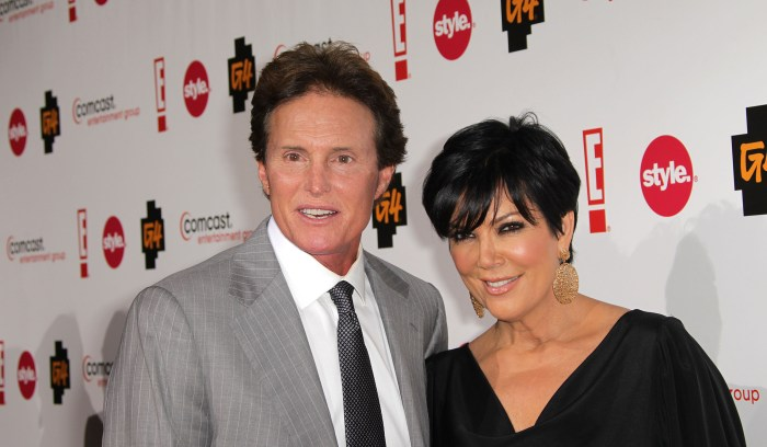 Bruce Jenner and Kris Jenner attend the Comcast Entertainment Group Television Critics Association Cocktail Reception at The Langham Hotel on January 5, 2011 in Pasadena, California. (Photo Credit: Frederick M. Brown/Getty Images)