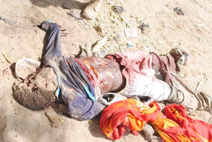 Boko Haram member killed by Nigeria troops i Borno (Photo Credit: Nigerian military)