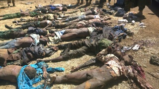 Remains of terrorists