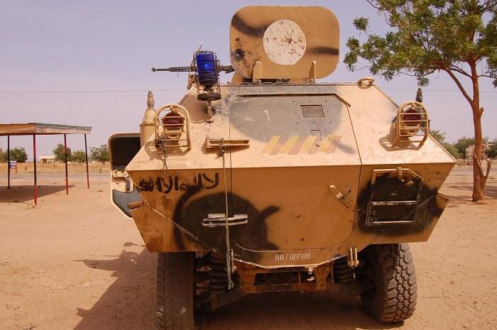 The Cobra APC recovered from Boko HAaram terrorists (Photo Credit: Nigerian military)