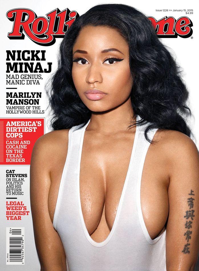 Nicki Minaj featured on January edition of Rolling stone Magazine   (Photo credit: Mail Online)