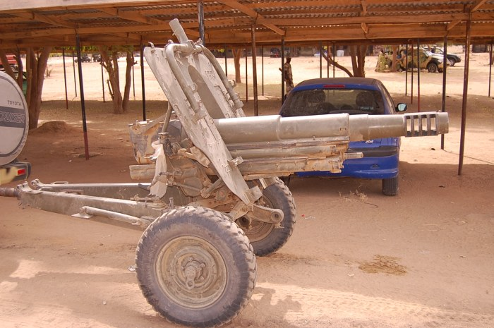 one of the artillery piece captured (Nigerian Military)