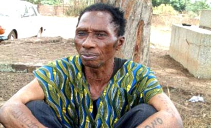 68-year old herbalist , Chief  Simon Odo from Enugu state with 56 wives and 300 children