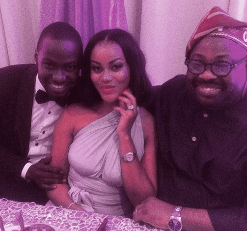 Damilola Adegbite and Chris Attoh wedding in Ghana on February 14, 2015 (Photo credit: Dele Momodu)