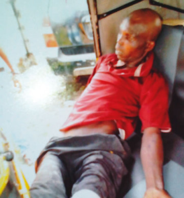 The deceased Bashorun Okanla, 57, who was cut by his neighbour Ibrahim Tijani on Sunday, February 8, 2015 after he complained of his generator fumes that entered his room in Lagos. (Photo Credit: Punch)