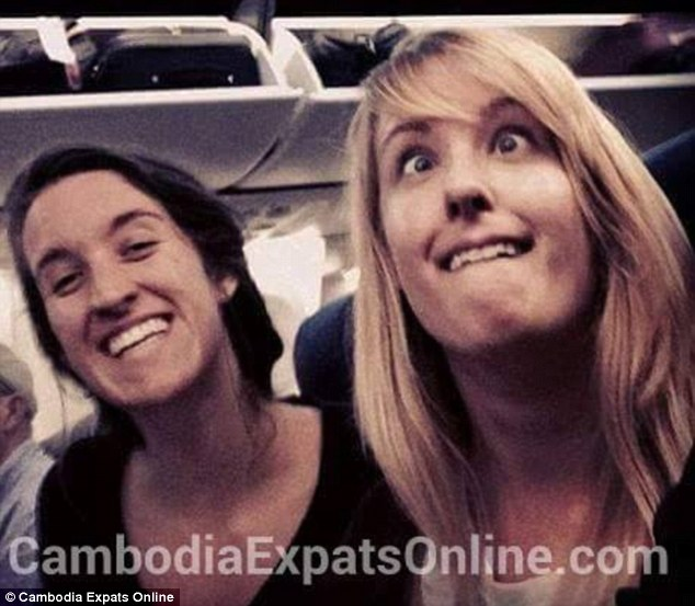 Lindsey Adams, 22, (pictured in an earlier holiday photo) and her sister Leslie, 20, were arrested and detained for taking naked pictures at Cambodia's sacred Angkor temple. (Photo Credit: Cambodia Expats Online)