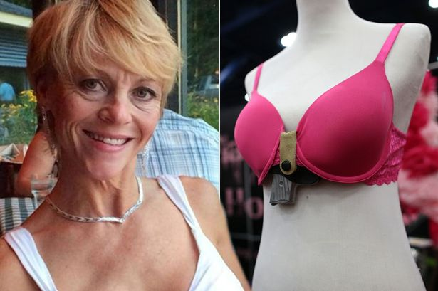 Christina Bond accidentally shot herself with a gun she hid in her bra (Photo credit: Mail Online)