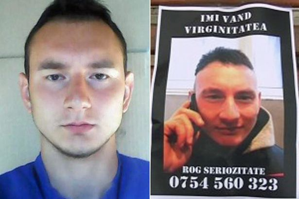 24-year-old security guard, Sorin Georgian Salinievici, is selling his VIRGINITY after reading about women doing the same. (Photo Credit: Mirror UK)