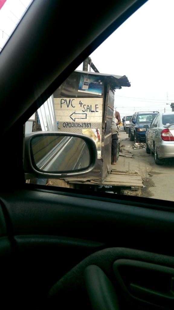 A shop in Ketu area of lagos State where PVCs are actually sold (Photo Credit: The Scoop)
