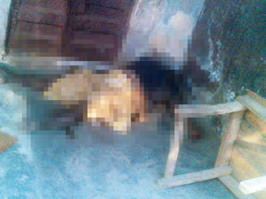 Unidentified woman whose body was strangled on saturday, January 31, 2015 at the Ketu area of Lagos state. (Photo Credit: Punch)