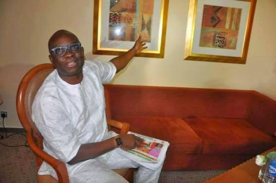 Governor Fayose  at Suite  881, transcorp hilton hotel, Abuja (Photo Credit: Afikpo Chick)