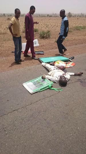 The slain INEC officials (Photo Credit: Linda Ikeji's Blog)