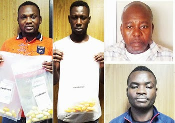 The four drug traffickers (NDLEA Photo)