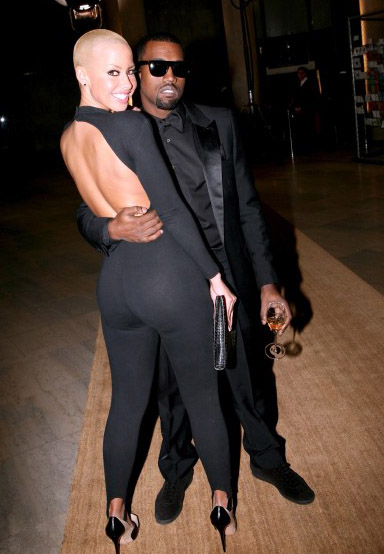 GOOD OLD DAYS: Singer Amber Rose and Rapper Kanye West while they were still together. (Photo Credit: Socialwriters.com)