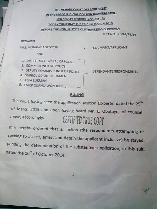 The court order