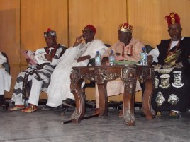 Traditional rulers seated at the event