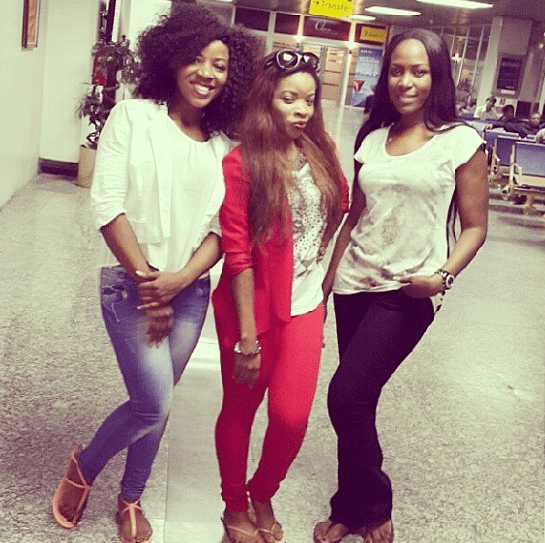 Sandra, Laura and Linda Ikeji