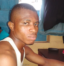Toluchukwu Anosike, 19, from Enugu State on Sunday, May 10, 2015 killed his friend, Nonso Monyasa, 15, during a scuffle for seat at the Abule Egba area of Lagos State.(Photo Credit: Punch)
