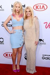 Britney Spears and Iggy Azalea (Credit: Invision/AP)