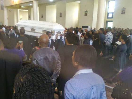 Late Classic Fm presenter, Sylvester Ojigbede was buried at Ikoyi Cemetery in the afternoon of Friday, May 8, 2015.