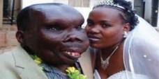 Uganda's ugliest man, Godfrey Baguma and wife, Kate Namanda welcomed baby girl on Sunday, June 21, 2015. (Photo Credit: KFM)