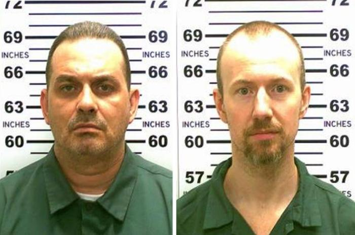 Richard Matt (L) and David Sweat busted out of the Clinton Correctional Facility, using power tools to cut their way to freedom (AFP Photo)