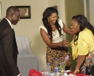 The surprised Mrs. Toyin on seeing Stephanie Linus (Credit: Stephanie Daily)