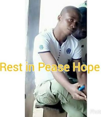 A 2014/2015 Batch C, National Youth Service Corps, NYSC, member popularly known as Hope, who was stabbed to death on Saturday, June 6, 2015 in Aboh Mbaise Local Government Area of Imo State. (Photo Credit: Witness)