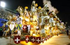 RIO DE JANEIRO, BRAZIL - FEBRUARY 16: Unidos da Tijuca participates in the parade on the Sambodromo during Rio Carnival on February 16, 2015 in Rio de Janeiro, Brazil. (Photo by Roberto Filho/Getty Images)