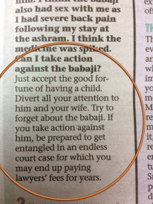 Man's weird question to a Sex Columnist of a magazine. (Photo Credit: Mumbai Mirror / Via Shayan Roy)