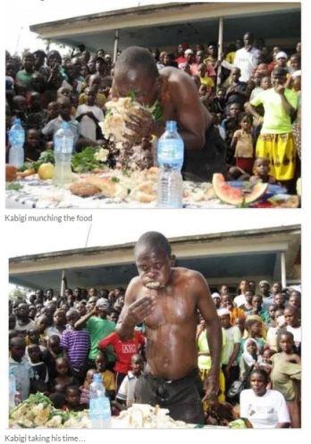 Juma Kabigi ate to stupor for a cash prize of N625 in Uganda. (Photo Credit: Daily Monitor)