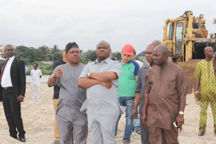 Governor Nyesom WIke inspecting the Odili/Woji/Akpajo (Photo Credit: Oraye St. Franklin/Facebook)