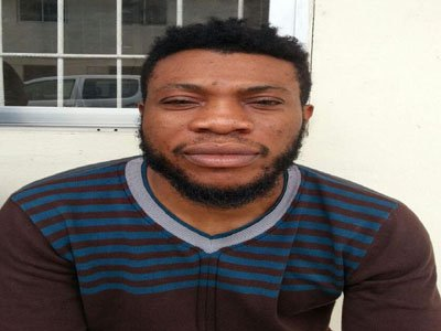 29-year-old fashion designer, Okechukwu Kingsley Ajaero was arrested by the  National Drug Law Enforcement Agency (NDLEA) after he  was found with forty-four (44) wraps of substances that tested positive for cocaine weighing 850grammes. (Photo Credit: The Nation)