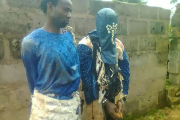Two masquerades were on Saturday, August 22, 2015 arrested for beating and stealing passenger's N57,000 in Nsukka, Enugu State.