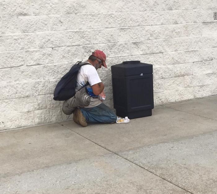 The homeless man, school principal, John Brantley stopped to help   Facebook/John Brantley
