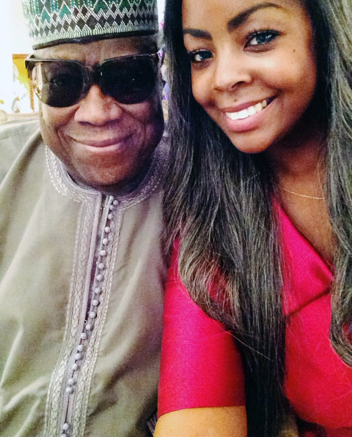 Bim with her father, Nigerian gemstone tycoon Antonio Deinde Fernandez.