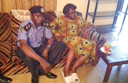 Vanguard columnist, Donu Kogbara pictured with the Rivers State Police Commissioner, Mr Musa Kimo, on Sunday, September 13, 2015 after she was released by kidnappers. (Photo Credit: Vanguard)