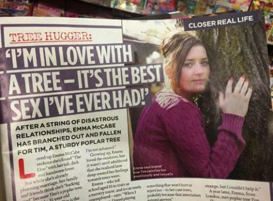31-year-old Emma McCabe, found love with a tree named Tim afterall and may be ringing the wedding bells soonest.