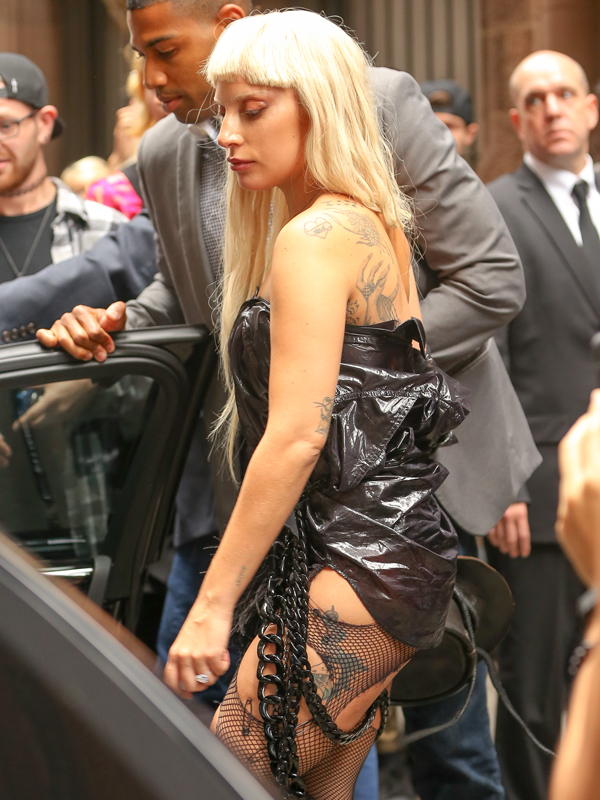 Lady Gaga spotted leaving the Nicopanda presentation in the Financial District of Manhattan in New York City on Sep 13, 2015, Lady Gaga has new bodyguards one of them is Jennifer Lawrence hot bodyguard Pictured: Lady Gaga Ref: SPL1125152 130915 Picture by: Felipe Ramales / Splash News Splash News and Pictures Los Angeles: 310-821-2666 New York: 212-619-2666 London: 870-934-2666 photodesk@splashnews.com