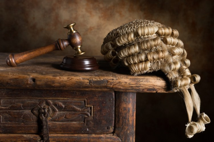 lawyer wig gavel justice