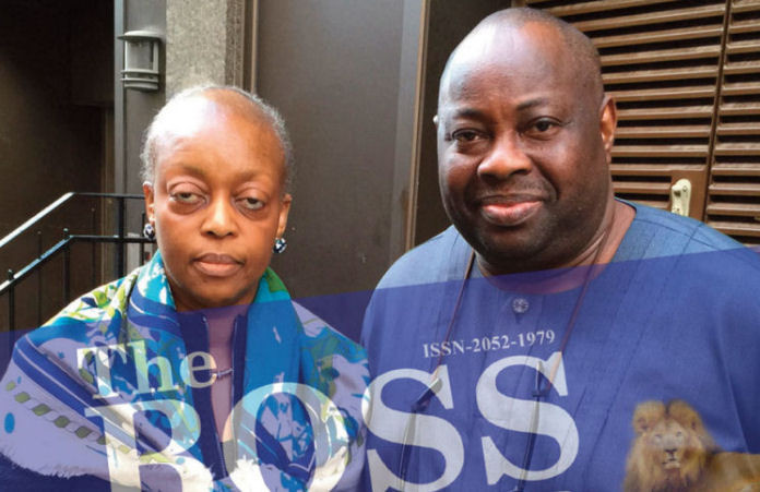 Former petroleum minister, Diezani Alison-Madueke pictured with Ovation publisher, Dele Momodu | The Boss