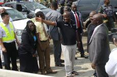 Governor Nyesom Wike inspecting road projects in Port Harcourt | Rivers Gov't Photo