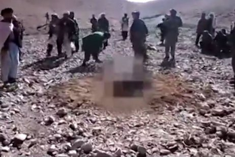 19-year-old woman identified only as Rokhshana was stoned to death for having sex with a man who she was not yet married to in the village of Ghalmin on the outskirts of Firoz Koh, the Ghor provincial capital | Radio Free Afhganistan