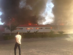 Popular Prince Ebeano Supermarket located in Lekki Phase 1, Lagos State had on Tuesday, November 3, 2015 gone up in flames.