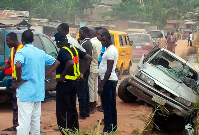 Scene of the accident on Sunday, November 29, 2015 | Punch